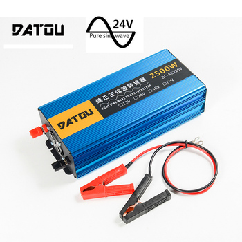 цена на 2500W Portable Pure Sine Wave Automotive Voltage Converter DC 24V to AC 220V Inverter Transformer Peak 5000W Auto Accessories