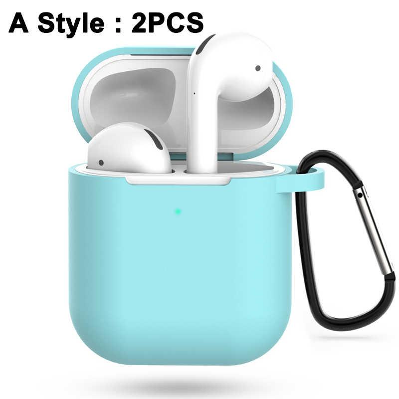 예쁜 선물 2/7Pcs airpods에 대 한 실리콘 케이스를 설정 애플 airpods2 Shockproof 액세서리에 대 한 두 번째 보호 이어폰 커버 케이스