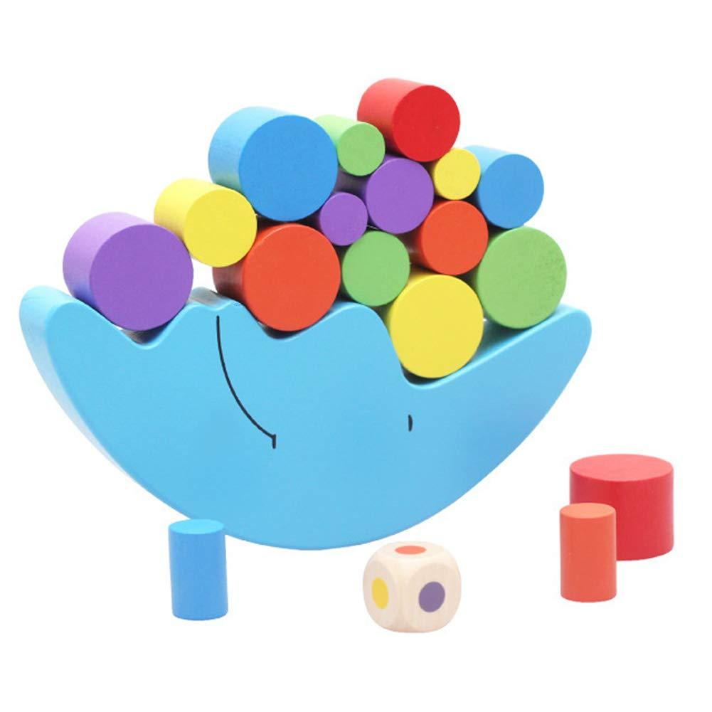 Baby Early Learning Toy Wooden Moon Balancing Frame Building Colorful Blocks Development Kids Toy Gift For Baby Toy