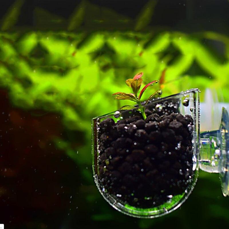 Aquarium decoration Hanging fish tank Mini Crystal Glass Pot Polka Water potted planting cylinder cup aquarium accessories