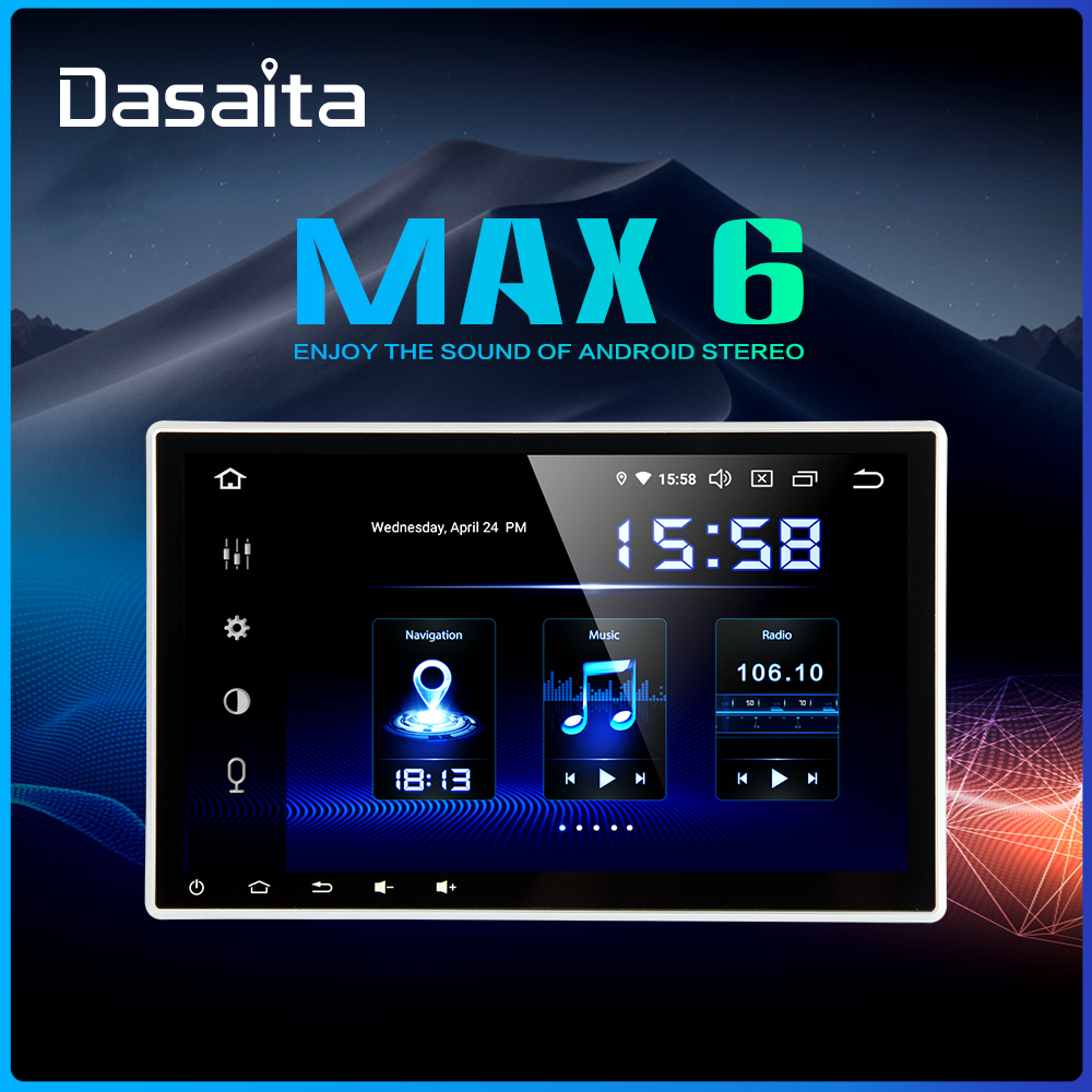 Dasaita 10.2 HD screen 2 Din Car Radio Android 9.0 Universal Car Stereo Multimedia for Nissan Bluetooth GPS Navigation 64G ROM