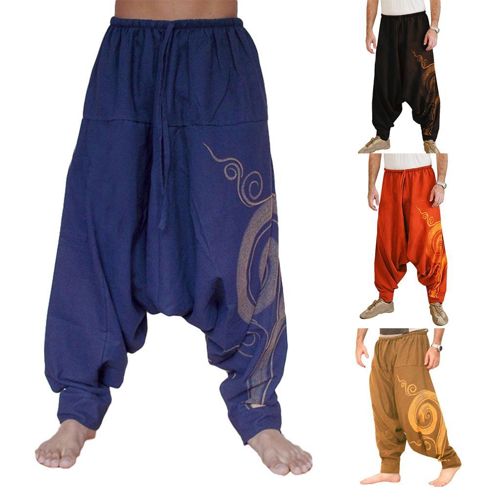 Yoga Pants Loose Modal Bloomers Men Casual Print Loose Low-heeled Harlan Casual Trousers Big Pants