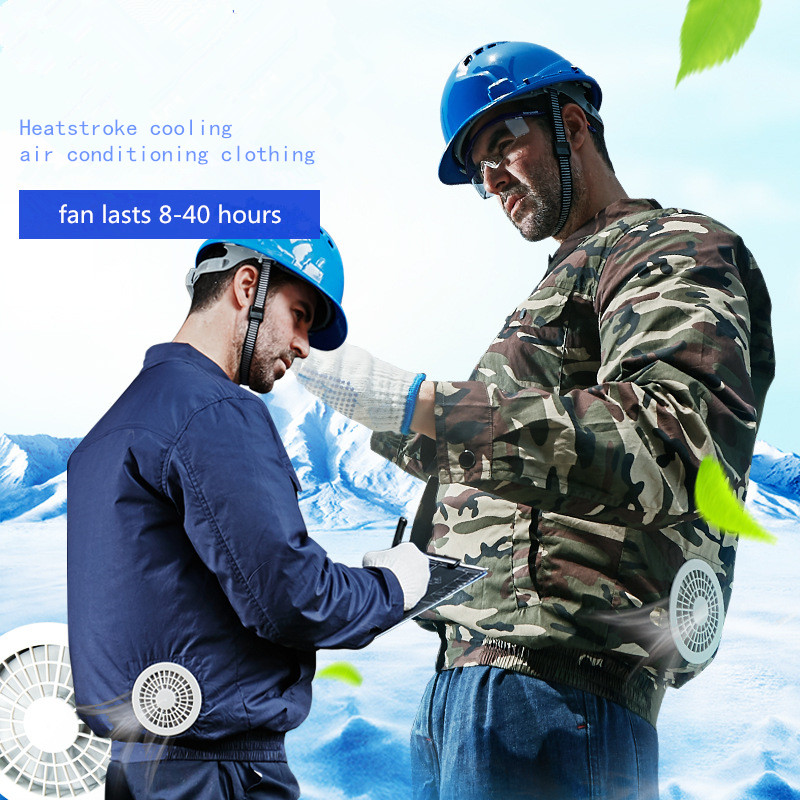 Summer Heatstroke Cooling Air Conditioning Jacket Male Fan Clothes Fishing Welding Refrigeration Service Site Labor Insurance