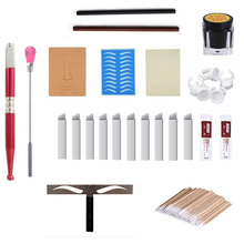 Microblading Kit Practice Skin Manual Pen Eyebrow Balance Ruler Needle Blades Pigment Tattoo Aftercare Cream for Beginner