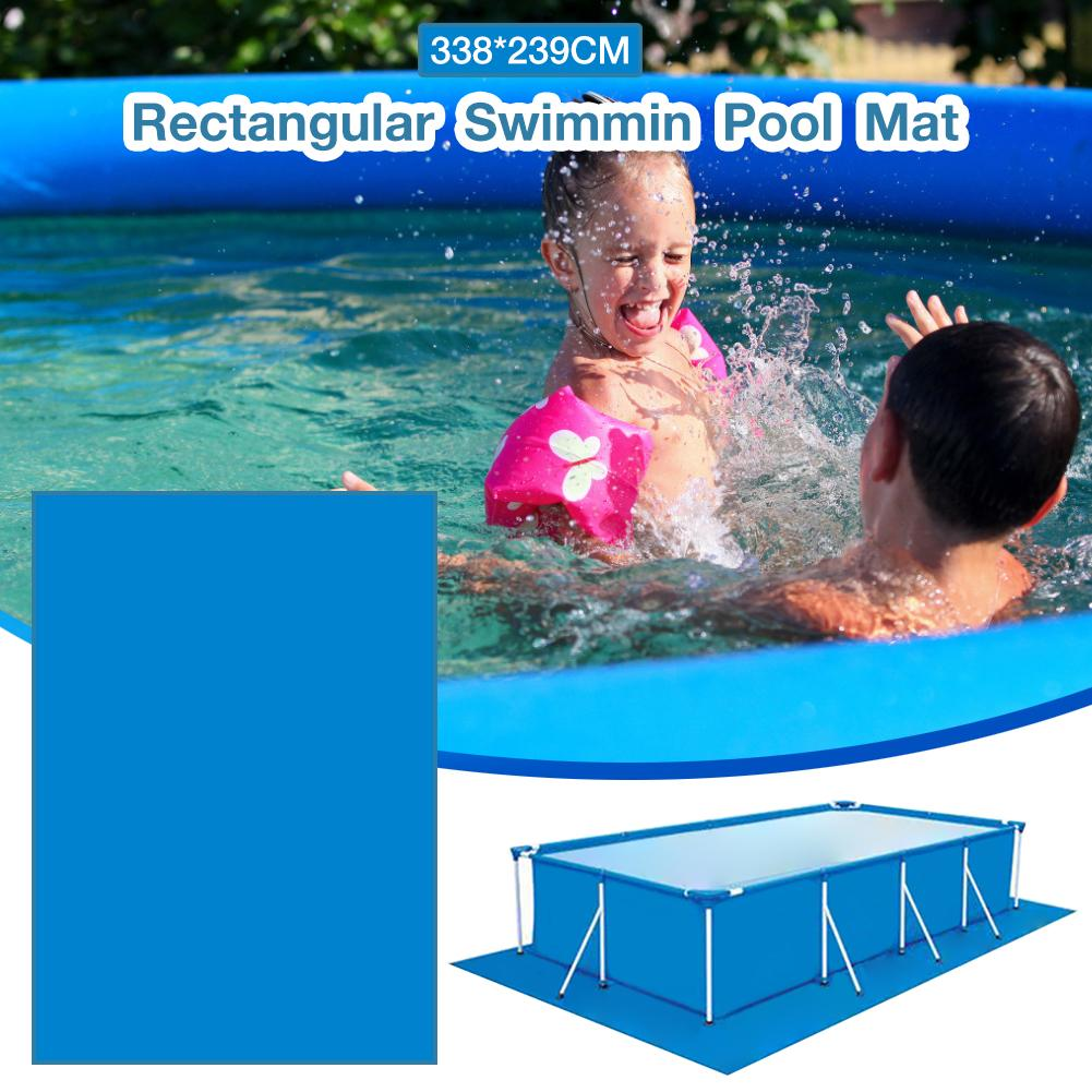 Universal Fit 338*239CM Swimming Pool Mat Rectangular Foldable Polyester Floor Cloth Carpet
