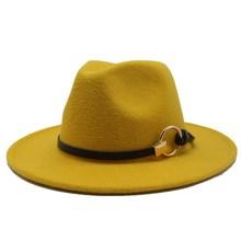 Autumn Winter Wool Men's Fedoras Women's Felt Jzaa Hat Ladies Sombrero Jazz Male Bowler Hat Outdoor Vintage Top Hats