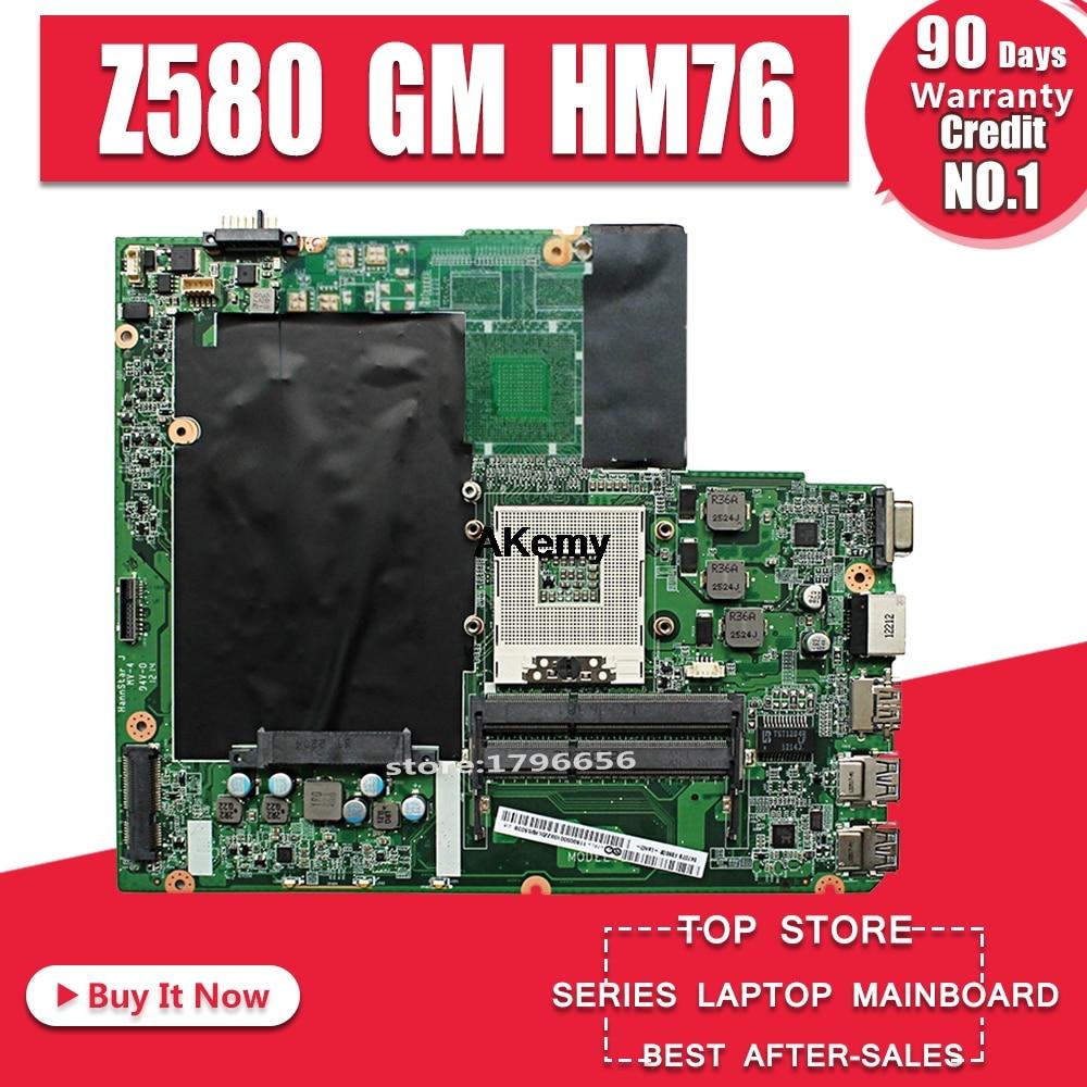 Carte mère Z580 pour Lenovo Z580 GM HM76 USB3.0 DALZ3AMB8E0 carte mère d'ordinateur portable USB3.0 travail de Test 100% original