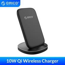 ORICO Qi bezprzewodowa ładowarka stojak na iPhone 11 Pro X XS 8 XR Samsung S9 S10 S8 S10E szybka bezprzewodowa stacja ładująca ZMCL01 BK