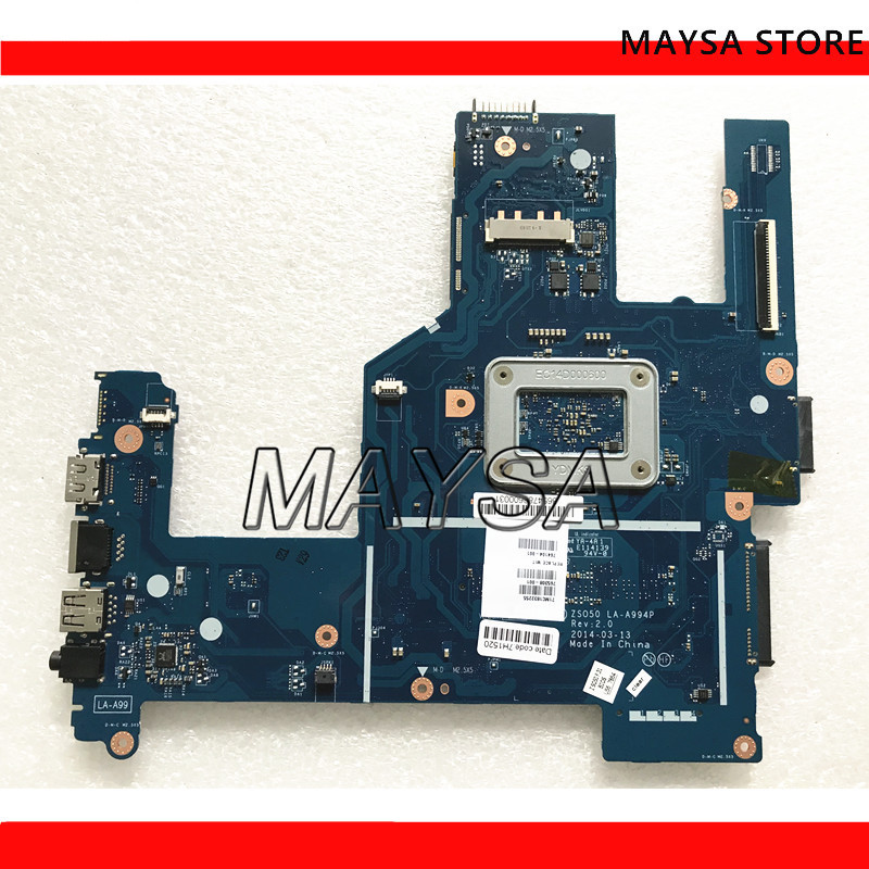 High quality laptop motherboard fit for HP Pavilion 15-R 788287-501 <font><b>ZS050</b></font> <font><b>LA</b></font>-<font><b>A994P</b></font> SR1YW N3540 DDR3L 100% Fully tested image
