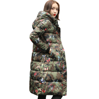 High Quality 2019 New Arrival Winter Jacket Women Hooded Cotton Padded Long Warm thicken Female Coats Parka Parkas Outwear