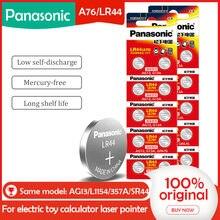 Baterias da bateria da pilha de 20 pces/2packs panasonic lr44 a76 ag13 0% hg sr1154 357 lr 44 1.5v para a calculadora 0% hg