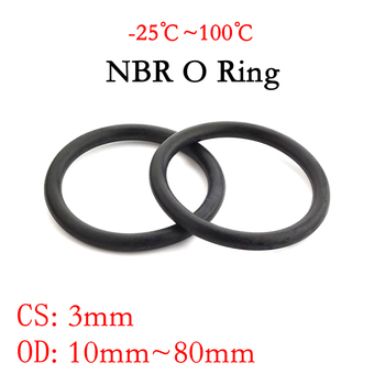 10pcs nbr id 72 74 75 77 78 79 80 82 84 85 87 88 90 92 94 96 97 100 104 4 112 mm x oil seal rubber ring gaskets section 1 5mm 10pcs NBR O Ring Seal Gasket Thickness CS 3mm OD 10~80mm Nitrile Butadiene Rubber Spacer Oil Resistance Washer Round Shape Black