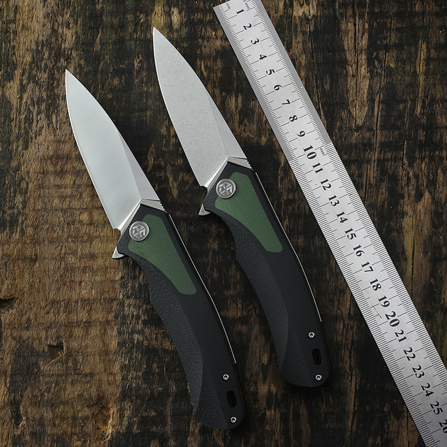 Original PF838 Petrified fish D2 steel blade folding knife G10 handle 59-60HRC hunting knives outdoor Rescue EDC Cutting tools 1