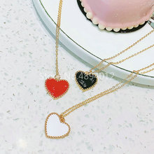 10Pcs,Women Necklace,Fashion Jewelry, CZ Setting,Pop Charms, Hearts Design, 3colors Can Wholesale