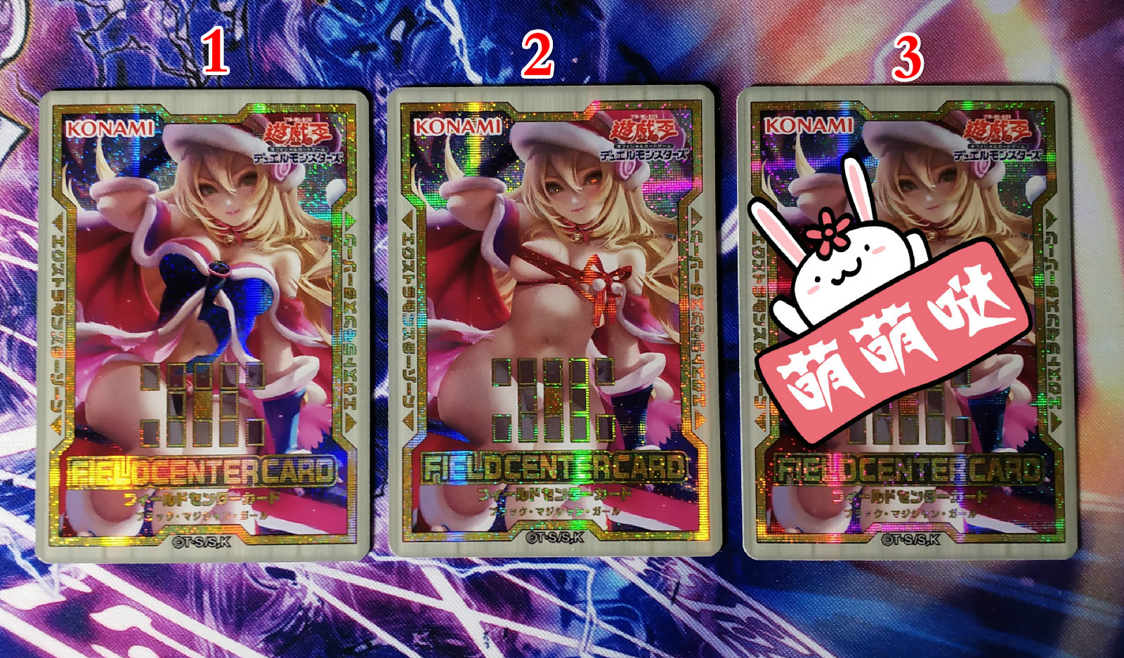 3pcs Yu Gi Oh DIY Dark Magician Girl Colorful Toys Hobbies Hobby Collectibles Game Collection Anime Cards