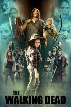 The Walking Dead Poster Season 9 Judith Daryl Carol Michonne Jesus canvas art Prints Wall Art For Living Room Bedroom Decor image