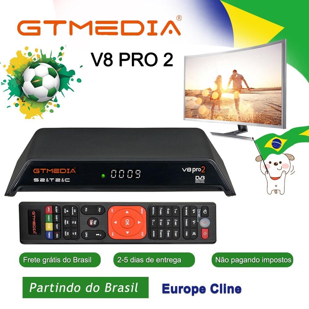 GTMedia V8 Gtmedia V8 pro2 H.265 Full HD DVB-S2 DVB-T2 DVB-C Récepteur Satellite WiFi Intégré mieux que freesat v8 Nouvelle-Brésil