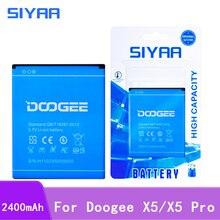 Oryginalna Bateria telefonu komórkowego do akumulatorów Doogee X5 2400mAh 3.7V akumulator litowo jonowy akumulator wysokiej jakości
