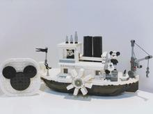 New Steamboat Willie Movie Compatible with lepines 21317 Building Blocks Bricks toys for children Gifts Kid Christmas Gift movie series hogwarts express train set diy building block toys bricks compatible with legoingly gifts for children