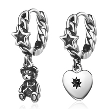 Sunnyyou Vintage Antique Silver Star Asymmetry Beer Heart Drop Earrings Women Personality Gothic Punk Earring Korea Jewelry sunnyyou vintage antique silver star asymmetry beer heart drop earrings women personality gothic punk earring korea jewelry