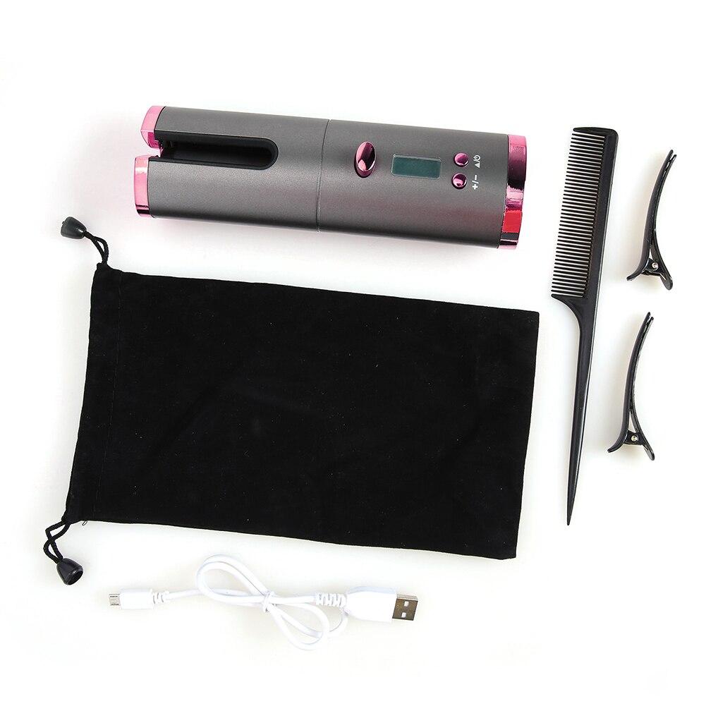 Portátil sem fio modelador de cabelo automático