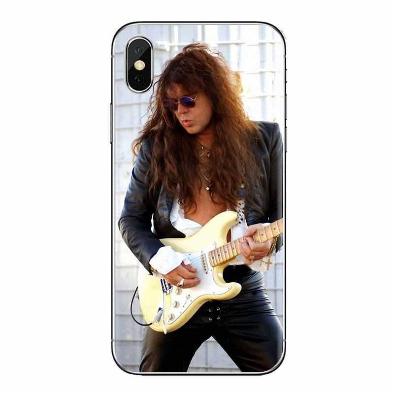 Para Huawei G7 G8 P7 P8 P9 Lite Honor 4C 5X 5C 6X Mate 7 8 9 Y3 Y5 Y6 II 2 Pro 2017 Yngwie Malmsteen hombres guitarra funda de teléfono móvil