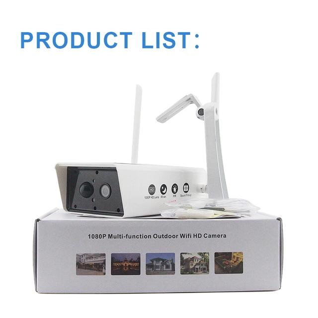 Wireless Solar Camera 1080P Security Surveillance Camera Waterproof IR Night Vision Support TF card 10200MAh P2P cloud Use 6