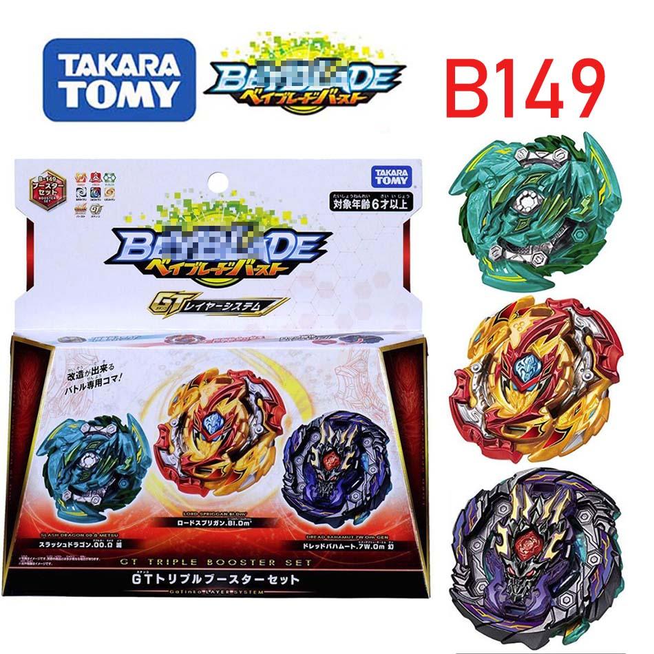 Takara tomy bayblade explosão B-149 três conjuntos de brinquedos para deity suprema real giroscópio giratório beyblades b149 beyblade b148 b145