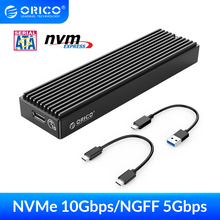 ORICO M.2 Enclosure M2 SATA NGFF USB Case Gen2 10Gbps PCIe SSD Case  5Gbps SSD box Tool Free For 2230/2242/2260/2280 m2 SSD