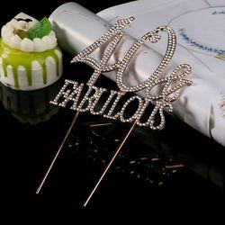 40 50 & Сказочный 40th 50th день рождения торт Топпер номер Кристалл Стразы юбилей, вечеринка, украшение поставки