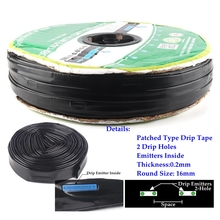 Wholesale 1000m/roll 2-Hole Irrigation Drip Tape Agricultural Drip Irrigation Tube Greenhouse Under Film Drip Hose все цены