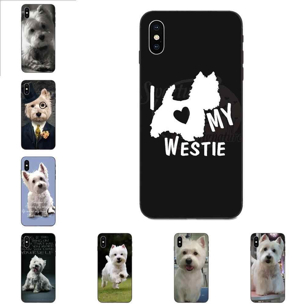 Silicone mềm TPU Màu Đen Capa Cho Apple iPhone 4 4S 5 5S SE 6 6S 7 8 Plus X XS Max XR I Love My Westie