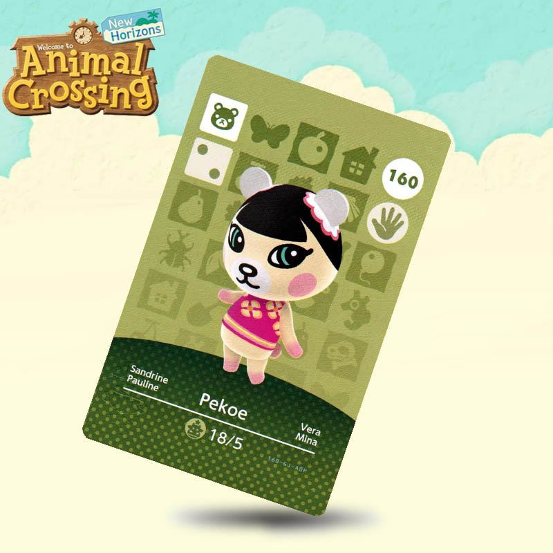160 Pekoe Animal Crossing Card Amiibo Cards Work For Switch NS 3DS Games
