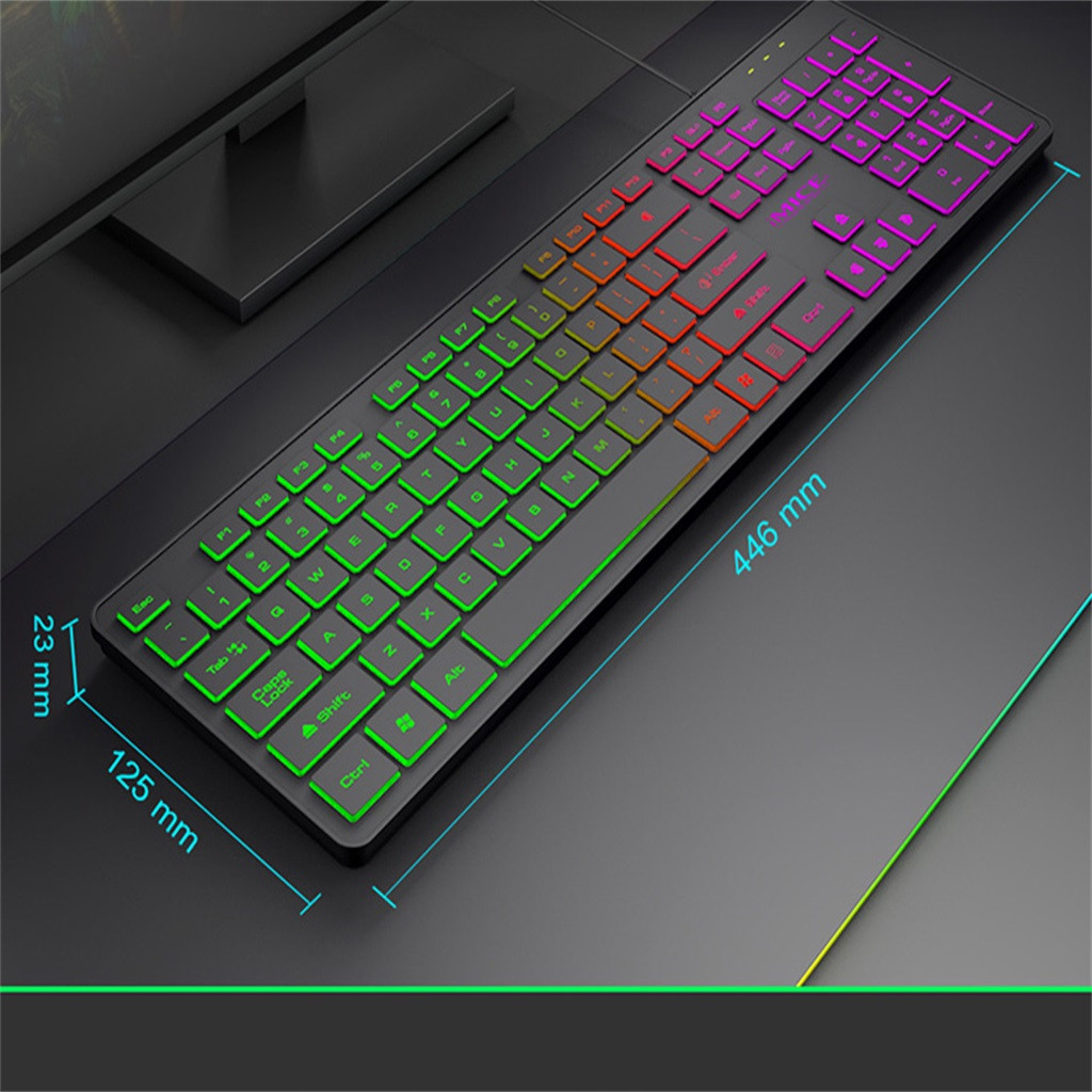 20% Wired Mechanical Gaming keyboard IMICE KA 200 Backlight Suspension Key Mechanical Keyboard Game Wired PC Notebook 104 keys|Keyboards| |  - title=