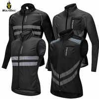 WOSAWE Hohe Sichtbarkeit männer Radfahren Jacken MTB Bike Sport Windjacke Leichte Reflektierende Wasser Widerstand Regen Mantel M-3XL