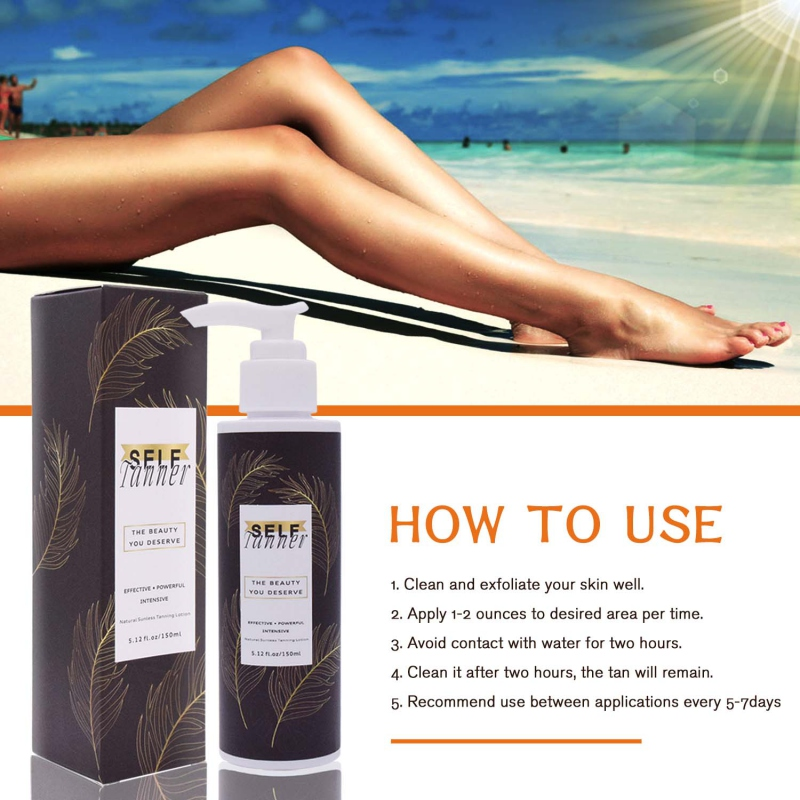 Self Tanner Moisturizing Sunless Tanning Lotion Self-tanning Lotion Body Self Tanners Bronzers Beauty Skin Color Easy To Use
