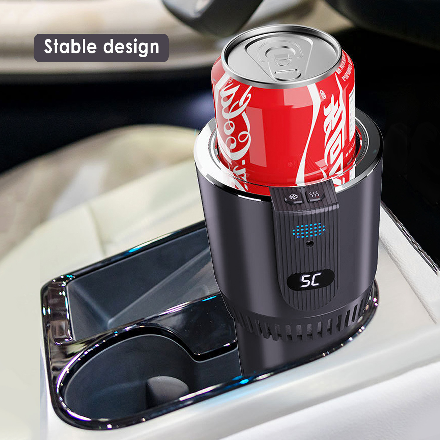 12V Car Heating Cooling Cup 2-in-1 Car Office Cup Warmer Cooler Smart Car Cup Mug Holder Tumbler Cooling Beverage Drinks Cans
