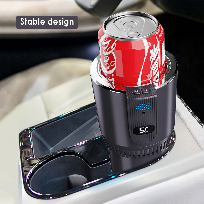 12V Car Heating Cooling Cup 2-in-1 Car Office Cup Warmer Cooler Smart Car Cup Mug Holder Tumbler Cooling Beverage Drinks Cans