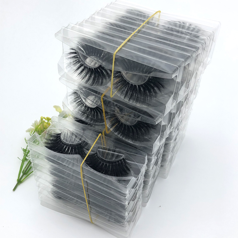 10/20/30/50/100 Pairs/pack Mink Eyelashes With Tray No Box Handmade Natural False Eyelashes Full Strip Lashes Reusable