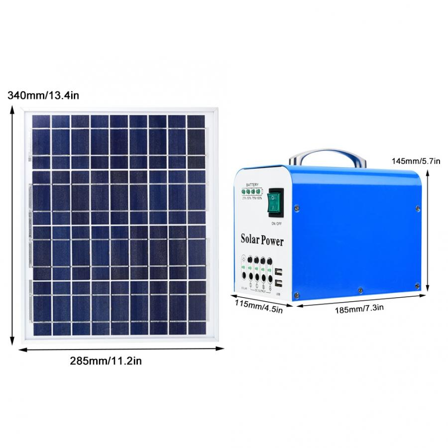 Portable Polysilicon Solar Generator with LED display Rechargeable by Solar Panels for Home Power System
