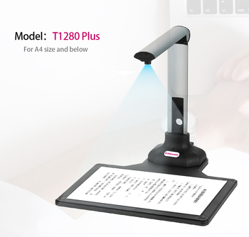 New version Scanner T1280 Plus Book Document Camera, 12 Mega-pixel, Camera HD, Capture Size A4, English Software, For office