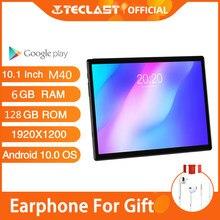 10.1 core tecandroid 10.0 tablet pc teclast m40 6gb ram 128gb rom 8 núcleo Mali-G52 gpu 1920*1200 ips 8mp câmera 4g telefone chamada wifi gps