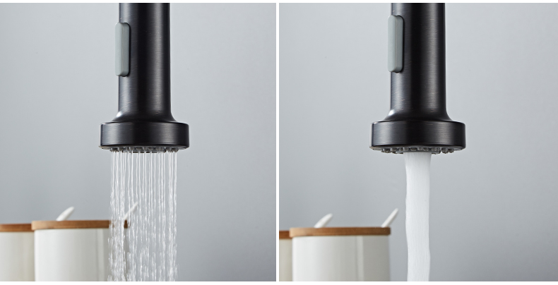 H549305c1fa6b4871ad83b14c425bb285z Deck Mounted Flexible Kitchen Faucets Pull Out Mixer Tap Black Hot Cold Kitchen Faucet Spring Style with Spray Mixers Taps E9009