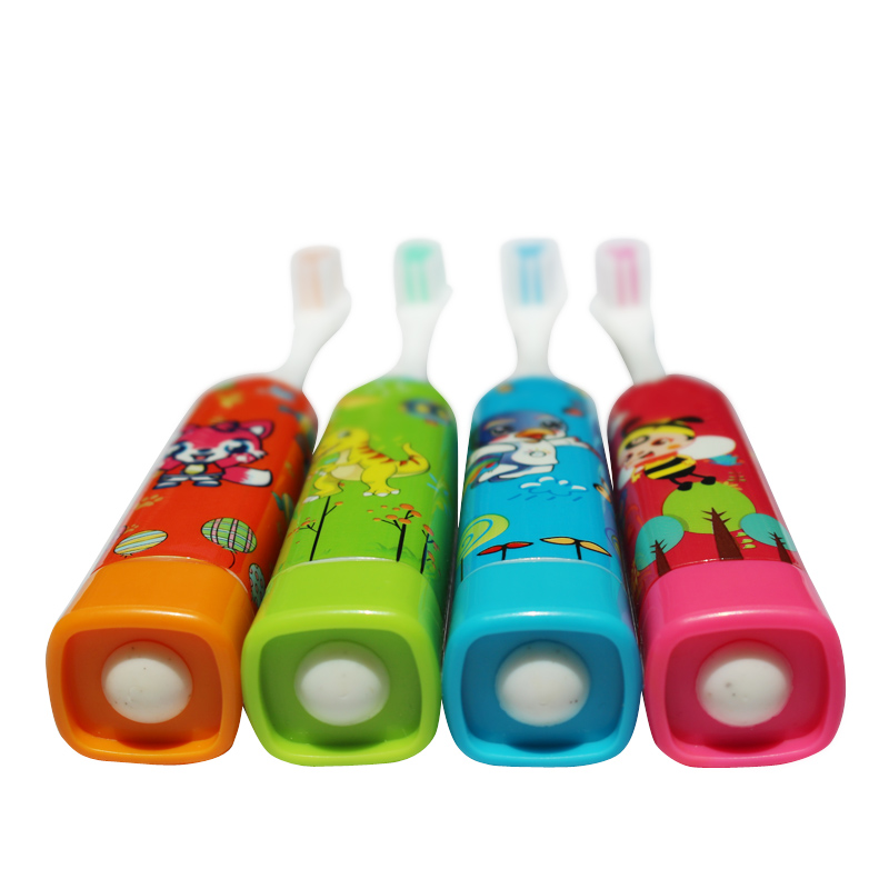 Image 2 - 4 pieces / pack children's electric toothbrush cute fun sonic electric brushing cartoon pattern kids toothbrush  Soft Bristle-in Electric Toothbrushes from Home Appliances