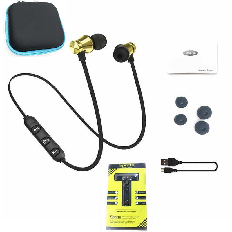 Słuchawki bezprzewodowe z bluetooth słuchawki sportowe Stereo słuchawki douszne z mikrofonem zestaw słuchawkowy do iphone'a Xiaomi Ecouteur Auriculares