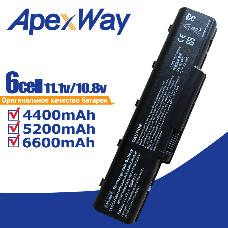 AS07A51 AS07A75 Laptop Battery for Acer Aspire 5738 5738G 5738Z 5738ZG AS5740 2930 4310 4520 4530 4710 4720 4730 4920 5740 image