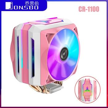 Jonsbo Tower CPU Cooler CR1100 6 Heatpipes PWM 4Pin CR-1100 Cooling Heat Sink For Intel LGA 775/1150/1151/1155 AMD AM4/AM3+ lga 2011 cpu cooler high quality 6 heat pipes dual tower cooling heat sink 4pin pwm cpu fans for 1150 1155 1156 775 am3 am4 1366