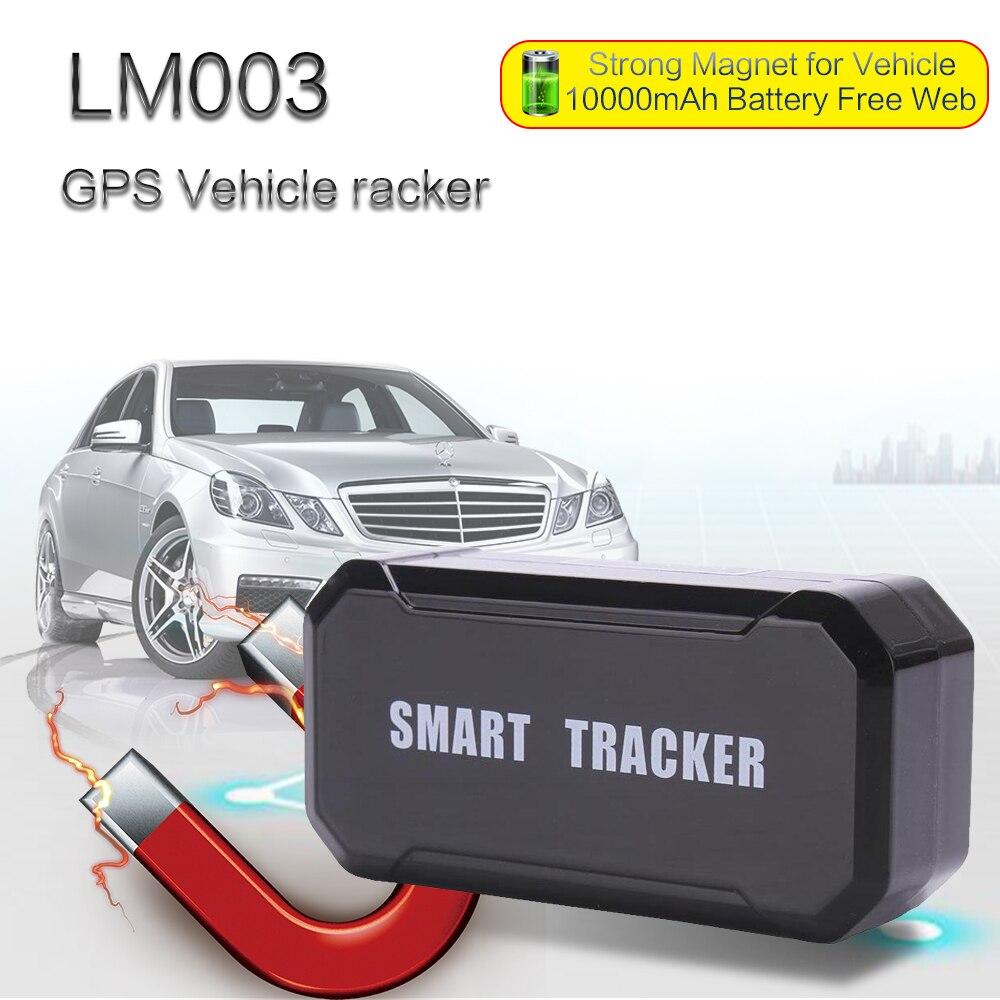 Temps réel en ligne personnel pas cher gps carte sim tracker pour voiture gps tracker 10000mAh batterie longue durée de veille avec application gratuite LM003