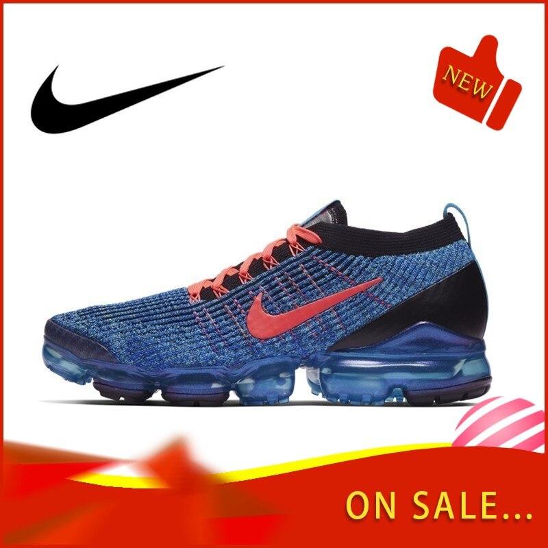 Original authentique Nike AIR VAPORMAX FLYKNIT 3 chaussures de course pour hommes classique chaussures de sport de plein AIR respirant confort AJ6900-401