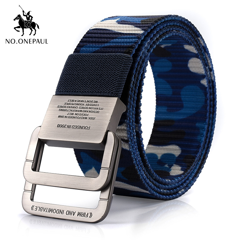 NO.ONEPAUL Metal Multifunctional Buckle Outdoor Sports Hook New Tactical Belt Military High Quality Nylon Men's Training Belt